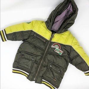 Catimini Baby Green hooded puffer jacket 12 months